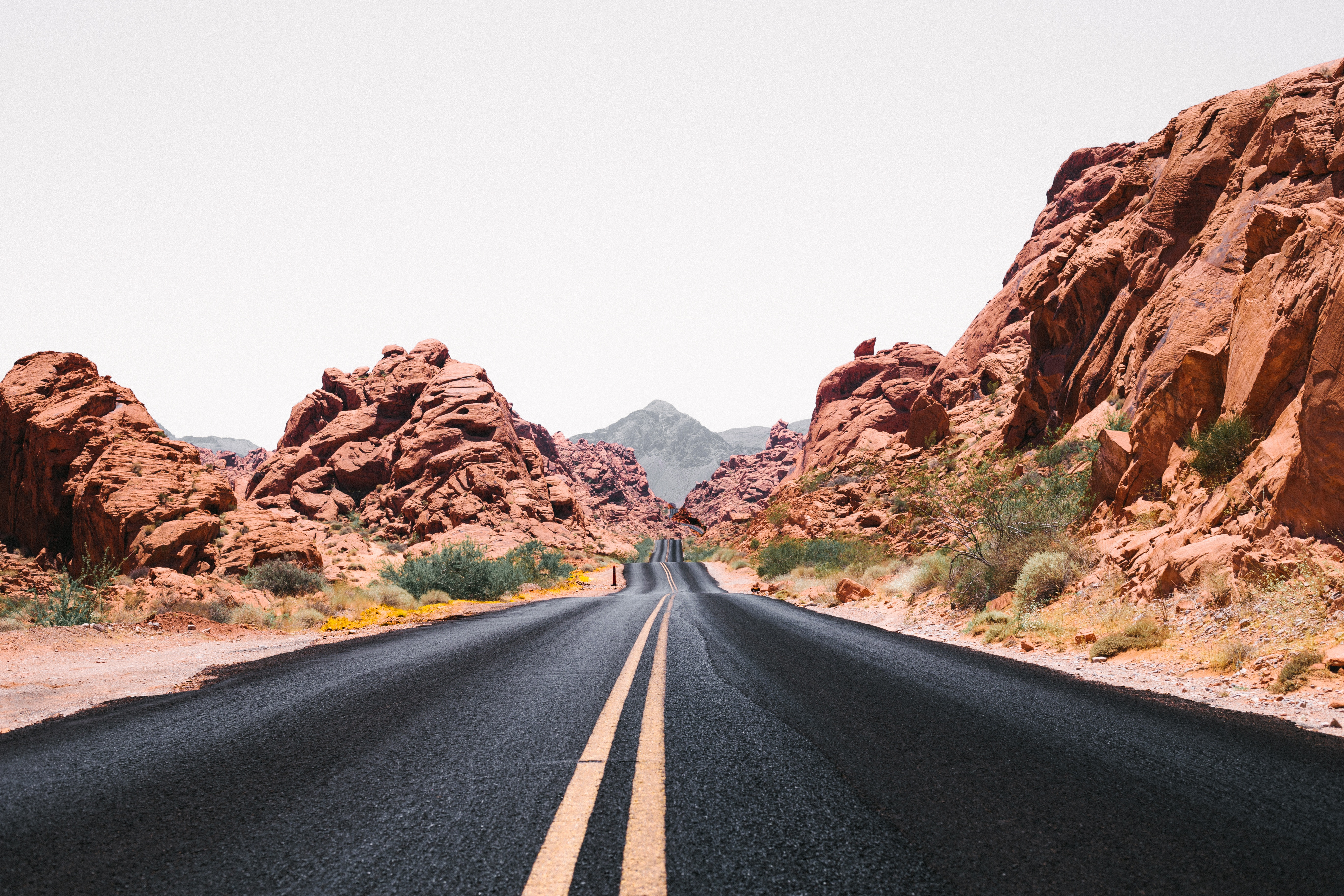 Desert Road by Red Rock Canyon