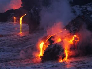 Lava at the Ocean on Maui