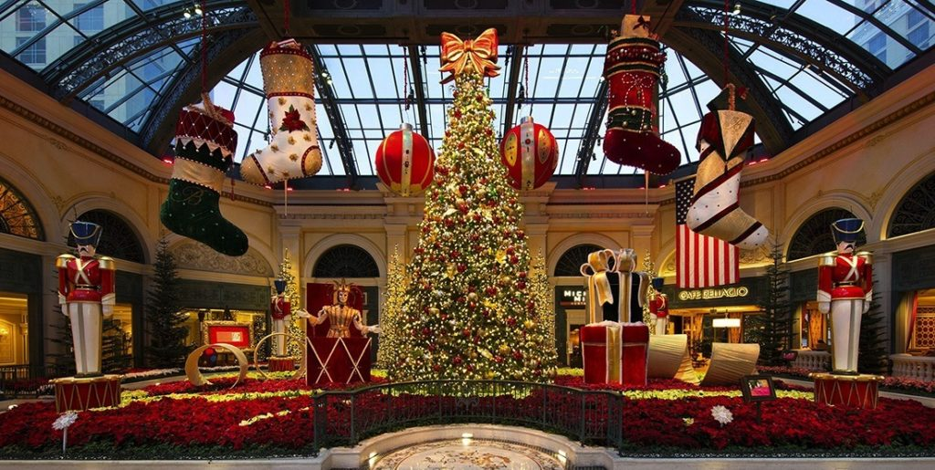 Bellagio Conservatory at Christmas
