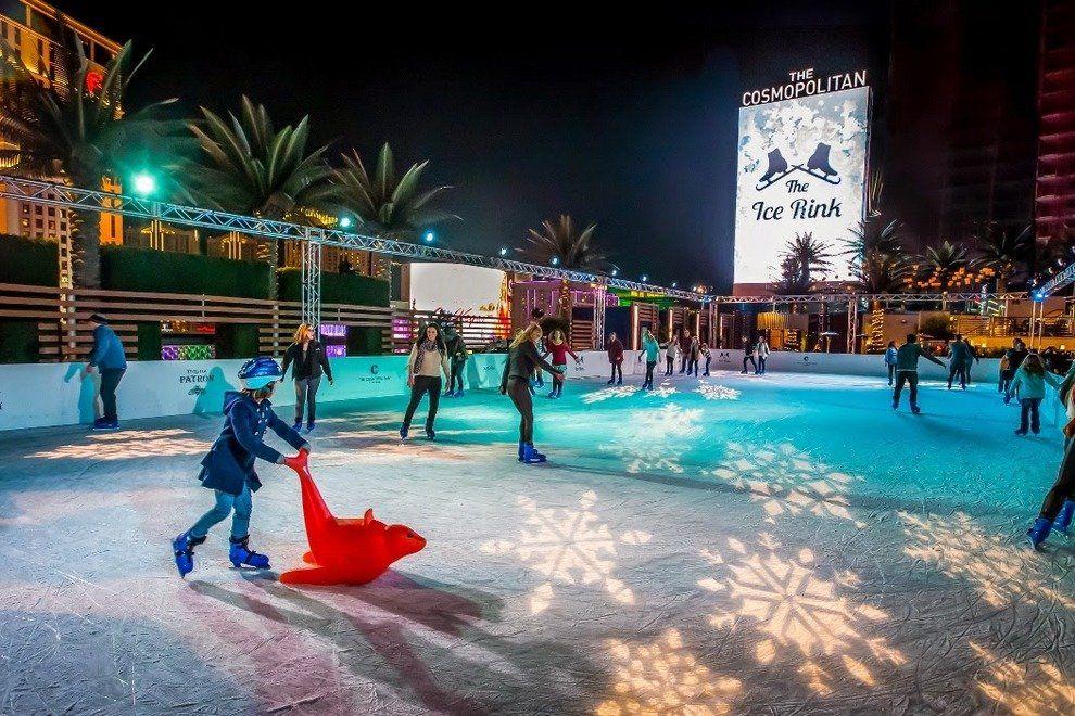 Ice Skating at the Cosmopolitan in Vegas