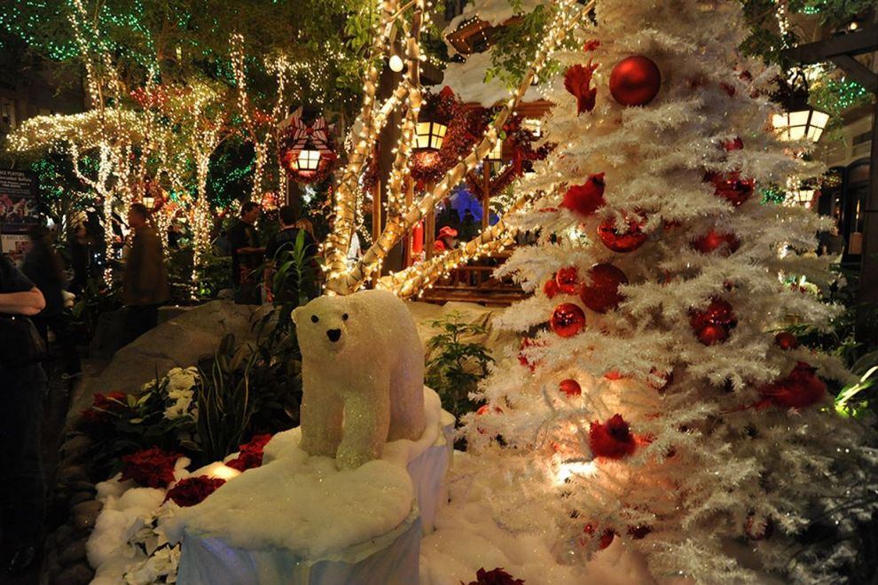Mystic Falls Christmas Park and Lights Show at Sam's Town