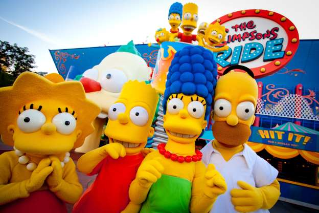 Universal Orlando attractions The Simpsons